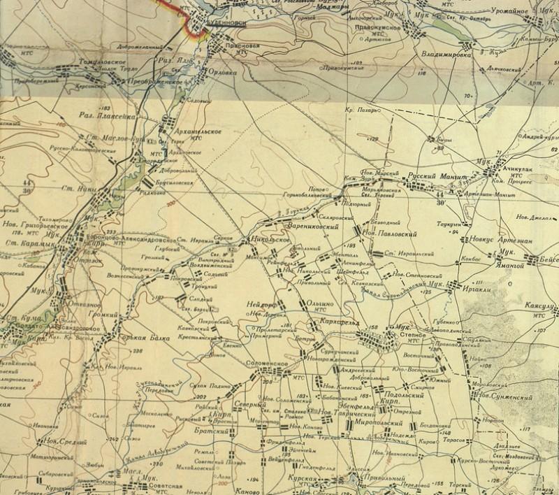 Положение 4гв.кк на 5 января 1943г. (Северный  фланг СГВ ЗКФ на 5 января 1943г.)