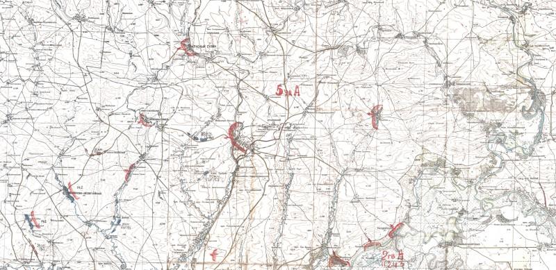 Район действий 5 Ударной Армии 7-14 февраля