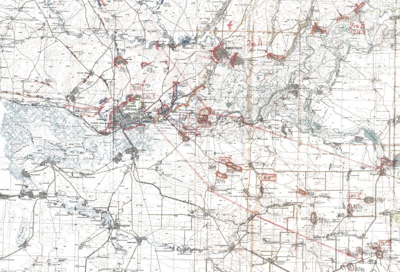 Фрагмент карты 51 армии 11-14 февраля