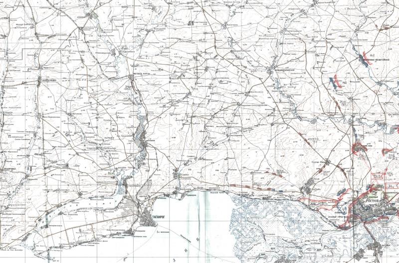 Левый фланг наступления Южного фронта