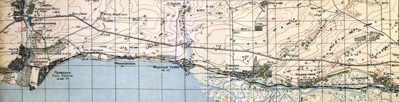 Район боев южнее Самбек