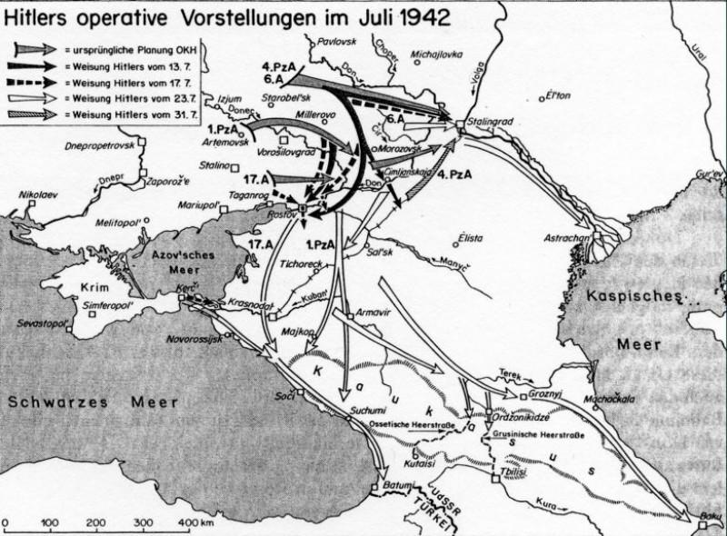 Приказы Гитлера в ходе летнего наступления