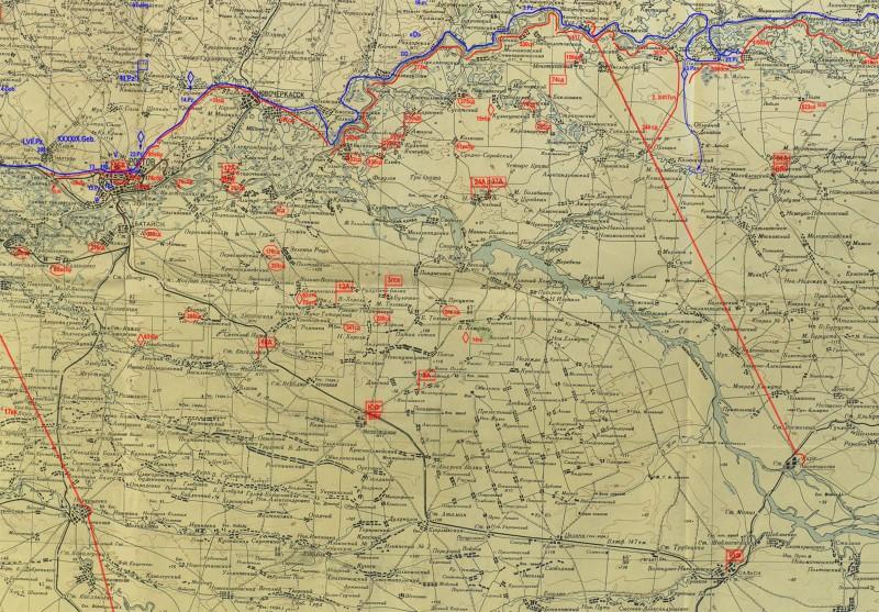 Положение войск Южного фронта 23 июля 1942г.(М1:500000-42г.)