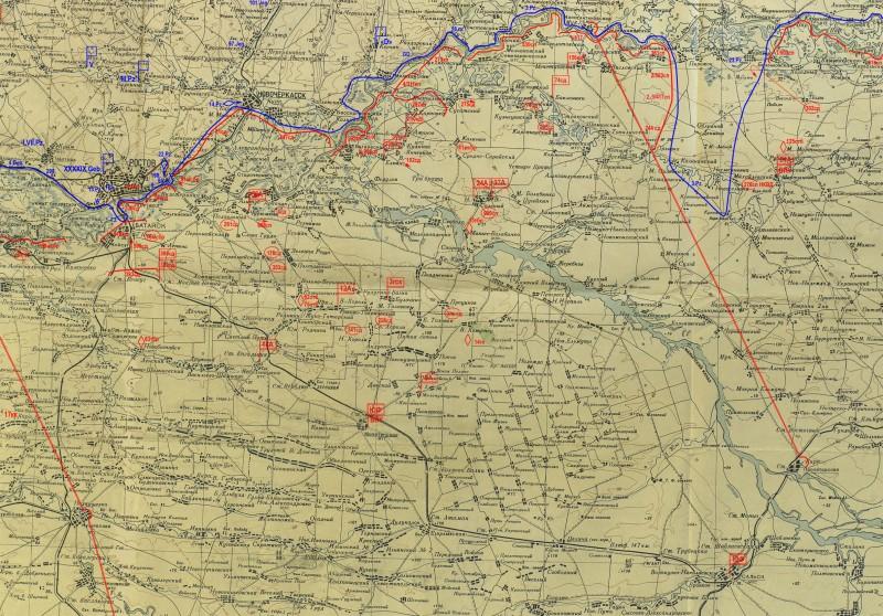 Положение войск Южного фронта 24 июля 1942г.(М1:500000-42г.)