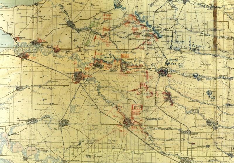 Отчетная карта 17 кавкорпуса на 30.7.42г. (М1:200000)